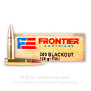 Cheap 300 AAC Blackout Ammo For Sale - 125 Grain FMJ Ammunition in Stock by Hornady Frontier - 20 Rounds