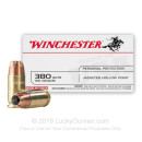 380 Auto Defense Ammo In Stock - 95 gr JHP - 380 ACP Ammunition by Winchester USA For Sale - 50 Rounds