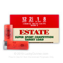 """Cheap 12 Gauge Ammo For Sale - 2-3/4"""" 1oz. #8 Shot Ammunition in Stock by Estate Super Sport Competition Target - 250 Rounds"""