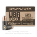 Bulk 9mm Ammo For Sale - 115 Grain FMJ Ammunition in Stock by Winchester USA Forged - 150 Rounds