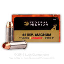 Premium 44 Mag Ammo For Sale - 225 Grain Barnes Expander Ammunition in Stock by Federal Vital-Shok - 20 Rounds