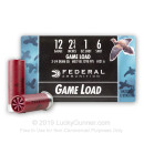 "Cheap 12 Gauge Ammo - 2-3/4"" Lead Shot Game shells - 1 oz - #6 - Federal Game-Shok - 25 Rounds"