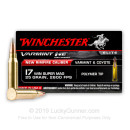 17 WSM Ammo For Sale - 25 gr Polymer Tip - Winchester Varmint HE Ammunition In Stock - 50 Rounds