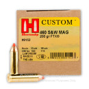 Cheap 460 SW Ammo - 200 gr FTX- Hornady LeverEvolution - 20 Rounds