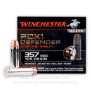 357 Magnum Defense Ammo In Stock - 125 gr JHP - 357 Magnum Ammunition by Winchester Supreme Elite For Sale - 20 Rounds