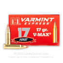 Cheap 17 HMR Ammo For Sale - 17 gr V-MAX - Hornady Varmint Express Ammunition In Stock - 200 Rounds