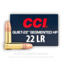 Cheap 22 LR Ammo For Sale - 40 Grain SHP Ammunition in Stock by CCI Quiet-22 - 500 Rounds