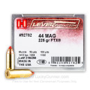 44 Magnum Ammo For Sale - 225 gr JHP FTX LEVERevolution Hornady Ammunition In Stock - 200 Rounds