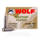 Wolf WPA Military Classic Ammo 223 Rem Ammunition 62 grain full metal jacket - 20 Rounds