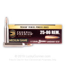 Cheap 25-06 Remington Ammo For Sale - 117 gr - Federal Premium Vital-Shok Ammo Online - 20 Rounds