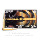 Premium 300 Win Mag Ammo For Sale - 215 Grain Gold Medal Berger Hybrid Ammunition in Stock by Federal - 20 Rounds