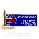 Bulk 223 Rem Ammo For Sale - 55 gr FMJ Ammunition In Stock by Federal American Eagle - 500 Rounds