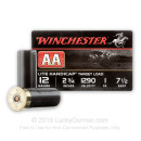 "Cheap 12 Gauge Ammo - Winchester AA Lite Handicap 2-3/4"" #7.5 Shot - 25 Rounds"