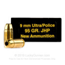 Cheap 9x18mm Ultra Ammo For Sale - 95 Grain JHP Ammunition in Stock by Precision Cartridge Inc - 50 Rounds