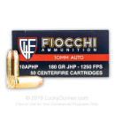 Cheap 10mm Auto Ammo For Sale - 180 Grain JHP Ammunition in Stock by Fiocchi - 50 Rounds