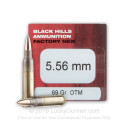 Bulk 5.56x45 Ammo For Sale - 69 Grain Open Tip Match Ammunition in Stock by Black Hills - 500 Rounds