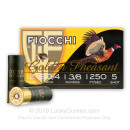 "Cheap 12 ga 2-3/4"" Golden Pheasant Fiocchi Shells For Sale - 2-3/4"" Nickel Plated Lead #5 Turkey Loads by Fiocchi - 25 Rounds"