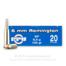 Cheap 6mm Rem Ammo For Sale - 100 Grain SPBT Ammunition in Stock by Prvi Partizan - 20 Rounds