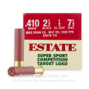 """Bulk410 Bore Ammo For Sale - 2-1/2"""" Max Dram 1/2 oz. #7-1/2 Shot Ammunition in Stock by Estate Super Sport Competition - 250 Rounds"""