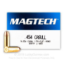 Cheap 454 Casull Ammo For Sale - 260 gr Full Metal Case Ammunition In Stock by Magtech - 20 Rounds