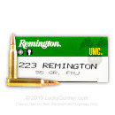 Cheap 223 Rem Ammo For Sale - 55 Grain [FMJ Ammunition in Stock by Remington UMC - 500 Rounds