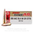 Premium 300 AAC Blackout Ammo For Sale - 90 Grain OTM Ammunition in Stock by Barnes Range AR - 20 Rounds