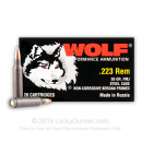 Cheap 223 Rem Ammo For Sale - 55 Grain FMJ Ammunition in Stock by Wolf Performance - 20 Rounds