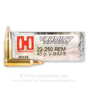 22-250 Ammo For Sale - 40 gr V-Max - Hornady Varmint Express Ammo Online - 20 Rounds