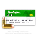 Bulk 45 ACP Ammo For Sale - 185 gr MC - Remington UMC Ammunition In Stock - 500 Rounds