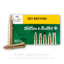 303 British Ammo For Sale - 180 gr FMJ Ammunition In Stock by Sellier & Bellot