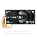 Cheap 40 S&W Ammo For Sale - 165 Grain FMJ Ammunition in Stock byFederal Black Pack - 200 Rounds