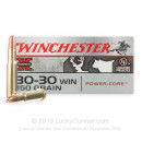 Premium 30-30 Winchester  Ammo For Sale - 150 Grain HP-BT Ammunition in Stock by Winchester Super Power Core - 20 Rounds