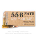 Bulk 5.56x45 Ammo For Sale - 55 Grain FMJBT Ammunition in Stock by Fiocchi Shooting Dynamics - 1000 Rounds