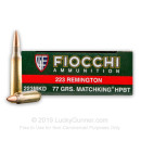 Bulk 223 Rem Ammo For Sale - 77 Grain MatchKing Hollow Point Ammunition in Stock by Fiocchi Extrema - 200 Rounds
