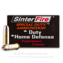 Premium 38 Special Ammo For Sale - 110 Grain Frangible HP Ammunition in Stock by SinterFire Special Duty - 20 Rounds