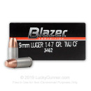9mm Ammo For Sale - 147 gr TMJ - CCI Clean Fire 9mm Luger Ammunition In Stock - 50 Rounds