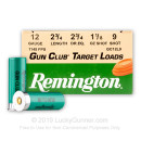 "Cheap 12 ga - 2-3/4"" 1-1/8 oz #9 Light Target Load - Remington Gun Club - 25 Rounds"