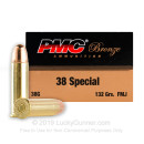 38 Special  Ammo For Sale - 132 gr FMJ Ammunition by PMC In Stock - Case