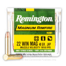 22 WMR Ammo For Sale - 40 gr JHP - Remington 22 Magnum Rimfire Ammunition In Stock - 50 Rounds