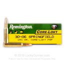 30-06 Ammo For Sale - 150 gr PSP - Remington Core-Lokt Ammo Online