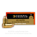 Match 45 ACP Ammo For Sale - 185 gr FMJ-SWC .45 Auto Ammunition In Stock by Federal Gold Medal - 50 Rounds
