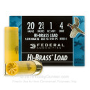 """Cheap20 Gauge Ammo For Sale - 2-3/4"""" 1 oz. #4 Shot Ammunition in Stock by Federal Game Shok Hi-Brass - 25 Rounds"""