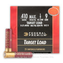"Bulk .410 Bore Ammo For Sale - 2 1/2"" 1/2oz. #9 Shot Ammunition in Stock by Federal Gold Metal - 250 Rounds"