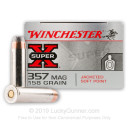 Cheap 357 Mag Ammo For Sale - 158 Grain JSP Ammunition in Stock by Winchester Super-X - 50 Rounds
