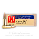 6.8 Special Purpose Cartridge Ammo In Stock  - 110 gr BTHP- Hornady 6.8 Remington Special Purpose Cartridge Ammunition For Sale Online