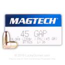 45 GAP Ammo For Sale - 230 gr FMJ - Magtech Ammo Online
