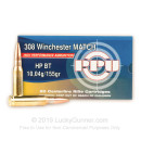 Cheap 308 Match Ammo For Sale - 155 Grain HPBT Ammunition in Stock by Prvi Partizan Match - 20 Rounds