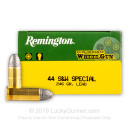 Cheap 44 Special Ammo For Sale - 246 Grain LRN Ammunition in Stock by Remington Performance WheelGun - 50 Rounds