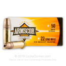 22 LR Ammo For Sale - 36 gr HP Armscor Ammunition In Stock - 500 Rounds