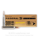 Premium 300 Win Mag Ammo For Sale - 185 Grain Berger Hybrid Hunter Ammunition in Stock by Federal - 20 Rounds